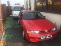 NISSAN ALMERA HATCH BACK 1999 MODEL IN RED COLOUR