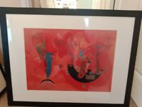 Autumnal Coloured Abstract Framed Painting
