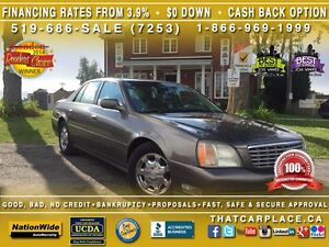 2002 Cadillac DeVille Htd Fr Row Lthr Sts-Pwr Drs/Wdws/Lcks/Mrrs London Ontario image 1