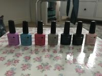 CND shellac gel colours.