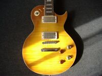 NEW VINTAGE V100PGM LEMON DROP GUITAR £359 RE-ISSUED BARGAIN NOT THE RELICED ONE