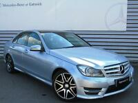Mercedes-Benz C Class C220 CDI BLUEEFFICIENCY AMG SPORT PLUS (silver) 2013-10-30