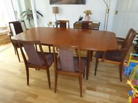 Extendable G Plan Dining Table With 6 Chairs Including 2 Carvers