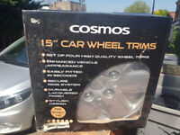 """Set of 4 Car Wheel Trims 15"""" - Brand New Boxed"""