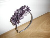 Girls Silver/Grey Flower Hairband New Condition