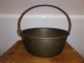 Vintage brass gypsy pan pot cauldron