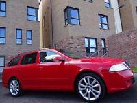 12 MONTH WARRANTY! (2009) SKODA OCTAVIA 2.0 TDi vRS CR 170 Estate- RED- One Owner- Genuine 60k Miles