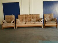 CINTIQUE MODENA FABRIC LOUNGE SUITE 3 SEATER SOFA / SETTEE & 2 CHAIRS / ARMCHAIRS CONSERVATORY SET