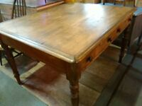 antique table .