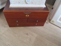 JEWLERY BOX USED BUT IN GOOD CONDITION