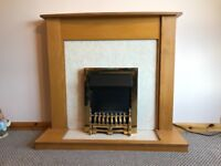 Fireplace with convector fire