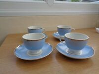 Doulton cups and saucers x4