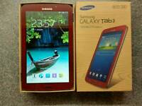"Samsung galaxy Tab 3 7"" 8gb WiFi Garnet Red Good condition"