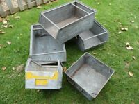 Commercial metal work shop bins