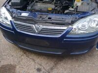 vauxhall corsa c facelift front bumper in ultra blue