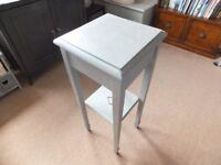 Oak Plant Stand / Table. Coated with Annie Sloan paint and waxed
