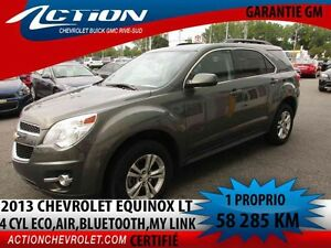 2013 CHEVROLET EQUINOX FWD LT Auto,air,4 cyl eco,bluetooth,My li