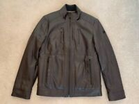 New Mens Calvin Klein Faux Leather Jacket Size Small