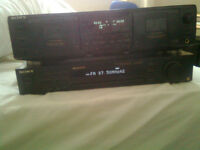 SONY ST S570ES TUNER / Sony TC-WE635 Dual Cassette Deck