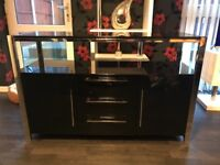 Solid Black high gloss Television stand
