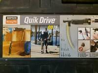 Quikdrive QD76 Kit Including MAKITA FS4000 screwgun110v & Adaptor dewaLT drywall decking