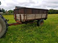 Tractor tipping trailer ideal for horse stables etc