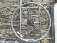 Alloy REAR wheel. 6 cogs (gears).