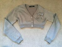 Cardigans silver and gold girls age 7-8 years