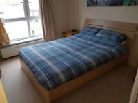 King Size wooden frame bed (mattress not included)