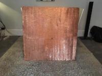 Large copper coloured metal art piece