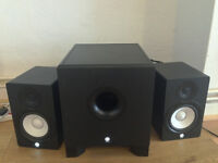 2x Yamaha HS 50M Active Studio Monitors & 1x Yamaha HS 10W Powered Subwoofer & Free cables