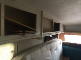 Caravan 1998 needs clean and cupboards need putting back on