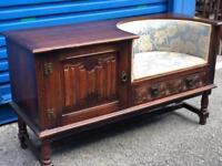Stunning Solid Oak hall seat, telephone table