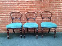 3 Antique Mahogany chairs in good condition