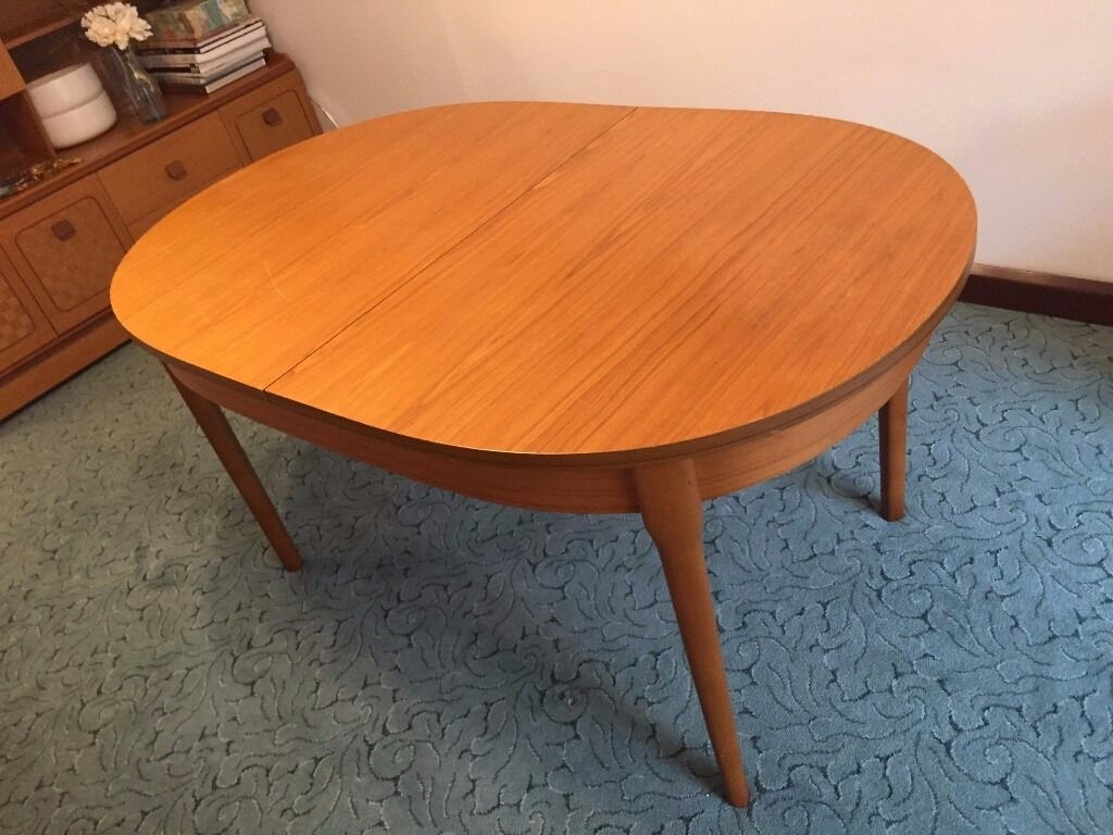 Retro Extending Dining Table Vintage Retro Extending Dining Table Seats 4 8 Complete With