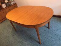 Vintage/Retro Extending Dining Table - seats 4-8 - complete with custom heat mat