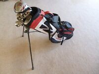 Tailor Made Junior / childrens Golf Clubs with Bag and stand Age 8 - 10 approx - Excellent