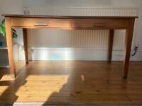 Solid wood oversized vintage desk table