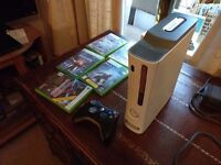 Xbox 360 60GB with controller GTA V and a few other games in good condition