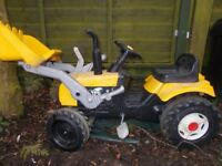 Kids pedal/ride-on JCB and trailer