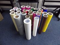 Vinyl Materials - 24 Roles + 100 Postal Tubes Sign Making Wall Art Sticker Signage