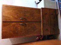 Wardrobe clothes storage upcycle vintage