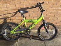 """18"""" Avigo Recon BMX Bike (Green) - Very Good/Excellent Condition"""