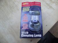Battery Powered Camping Light with adjustable Dimmer Switch.