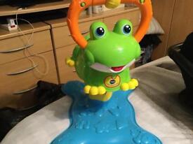 Bouncing interactive frog