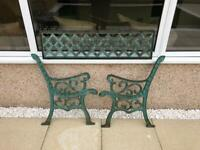 Large cast iron bench ends / backing - garden, patio, chair, outdoor furniture
