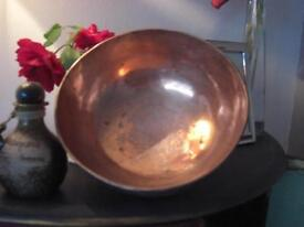 Decorative far eastern copper bowl. Possibly Islamic or Indian.