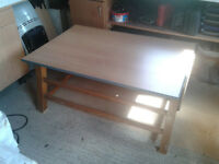 UPCYCLED VINTAGE GYM VAULTING HORSE, CONVERTS BACK TO ORIGINAL!!! SEAT AND TABLE DISPLAT UNITS ETC!