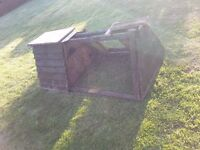 Rabbits Hutch and Sawdust