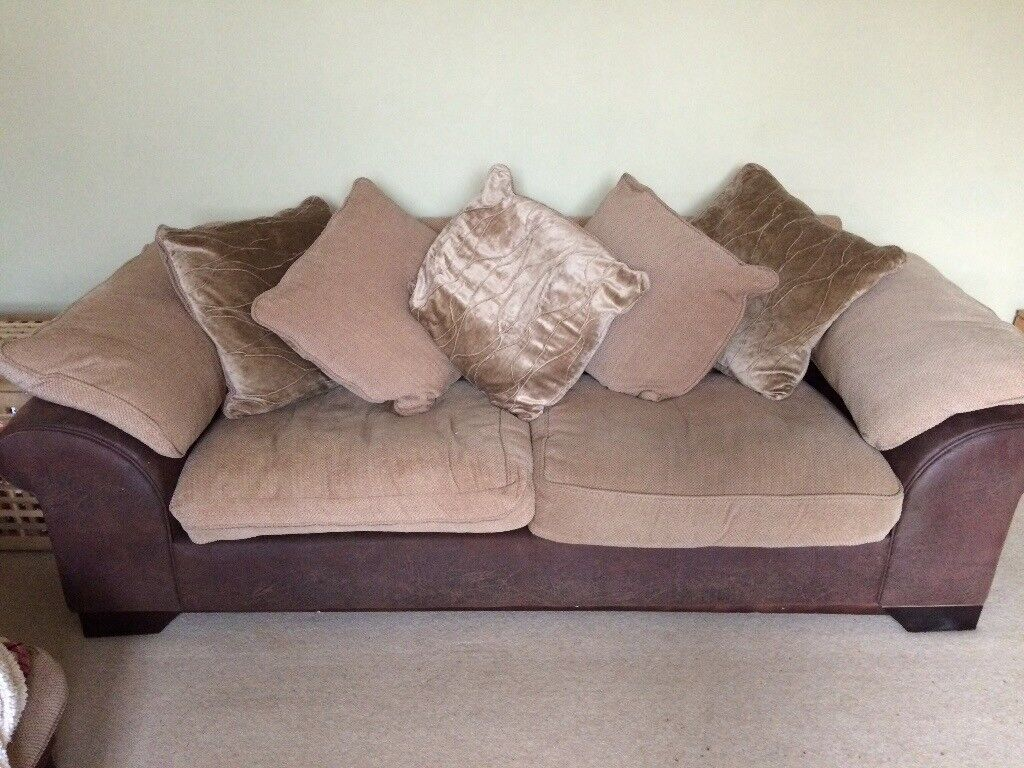 2 Sofas and 1 footstool